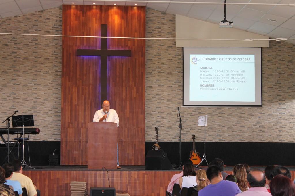 El Hno. Jorge Rivadeneira compartiendo su testimonio